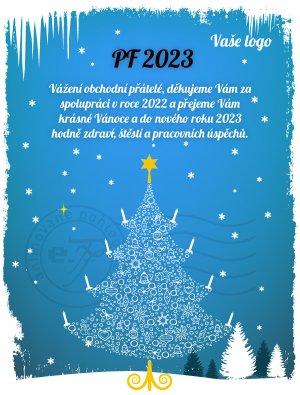 Vánoční stromek (modré pozadí)