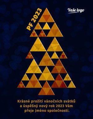 Triangle stromek (zlatý)