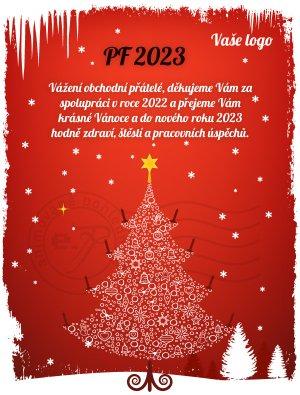 Vánoční stromek (červené pozadí)